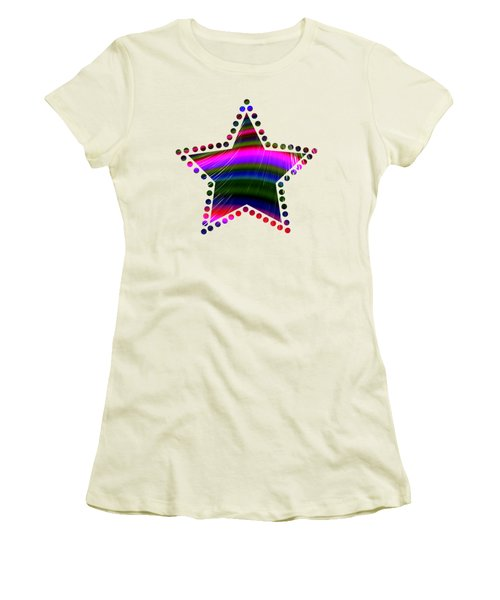 Rainbow Waves Women's T-Shirt (Athletic Fit)