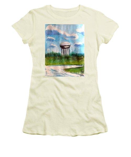 Raines Road Watertower Women's T-Shirt (Junior Cut) by Loretta Nash
