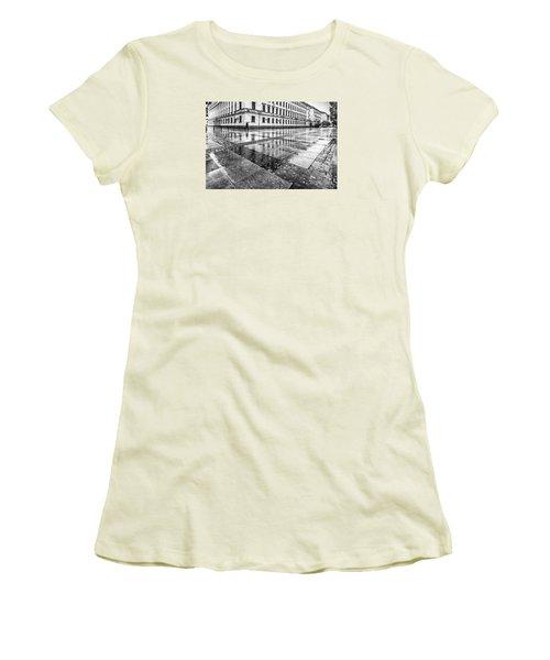 Women's T-Shirt (Junior Cut) featuring the photograph Rainy Day by Jivko Nakev