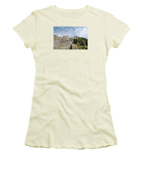Ramparts Of Montenegro Women's T-Shirt (Athletic Fit)