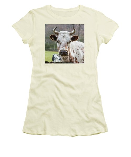 Women's T-Shirt (Junior Cut) featuring the photograph Randall Cow by Bill Wakeley