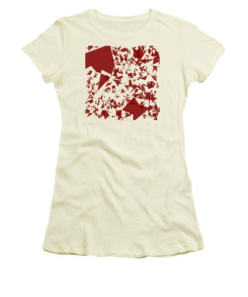 Random Shreds Women's T-Shirt (Junior Cut) by Keshava Shukla