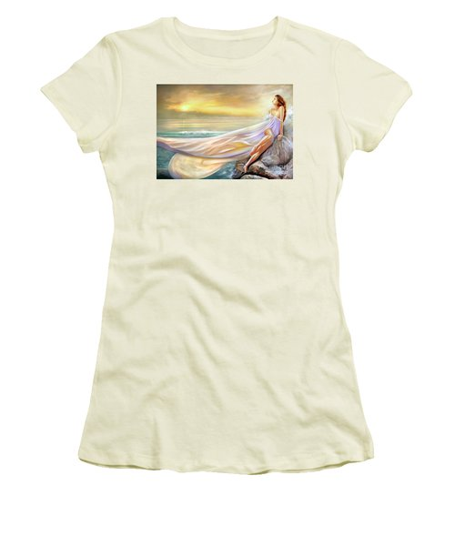 Rapture In Midst Of The Sea Women's T-Shirt (Junior Cut) by Michael Rock