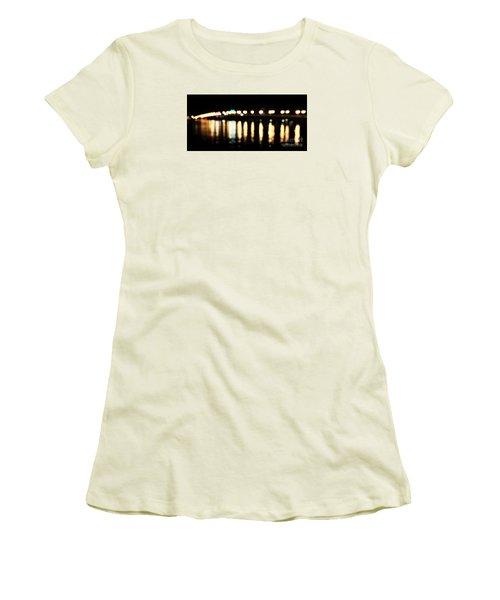 Bridge Of Lions -  Old City Lights Women's T-Shirt (Junior Cut) by LeeAnn Kendall
