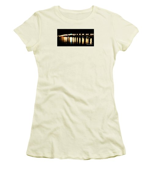Bridge Of Lions -  Old City Lights Women's T-Shirt (Athletic Fit)