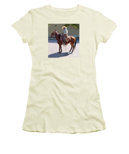 Real Cowboy Women's T-Shirt (Athletic Fit)
