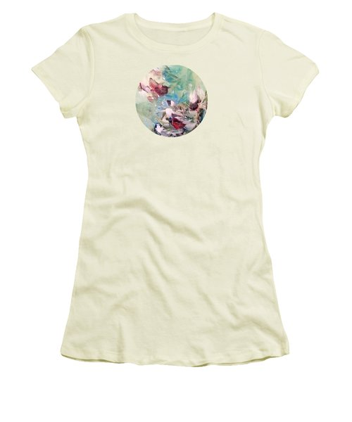 Red Birds In Winter Women's T-Shirt (Athletic Fit)