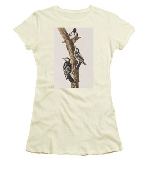 Red-cockaded Woodpecker Women's T-Shirt (Junior Cut) by John James Audubon