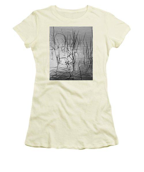 Reeds Women's T-Shirt (Junior Cut) by Art Shimamura