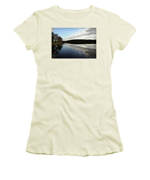Women's T-Shirt (Junior Cut) featuring the photograph Reflections On The Lake by Chris Berry