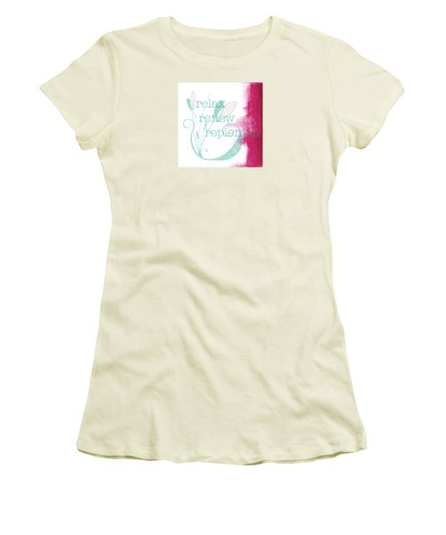 Women's T-Shirt (Junior Cut) featuring the painting Relax  by Kandy Hurley