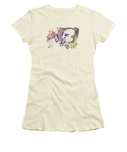 Remain Sedate - Rainbow Women's T-Shirt (Junior Cut) by Marco Paludet