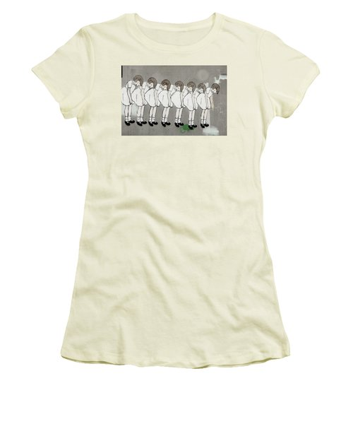 Women's T-Shirt (Junior Cut) featuring the photograph Retro Girl by Art Block Collections
