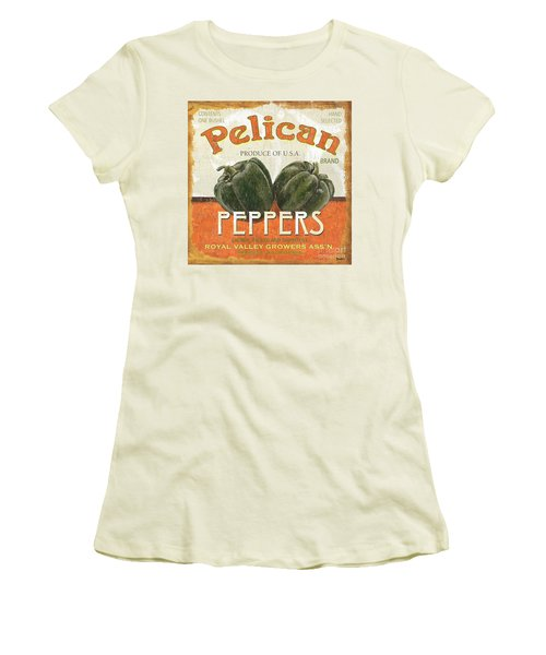 Retro Veggie Labels 3 Women's T-Shirt (Athletic Fit)