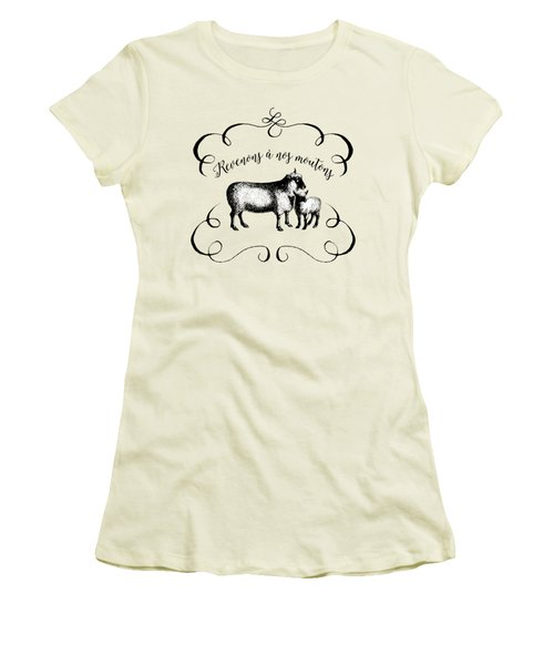 Revenons A Nos Moutons Women's T-Shirt (Junior Cut) by Antique Images