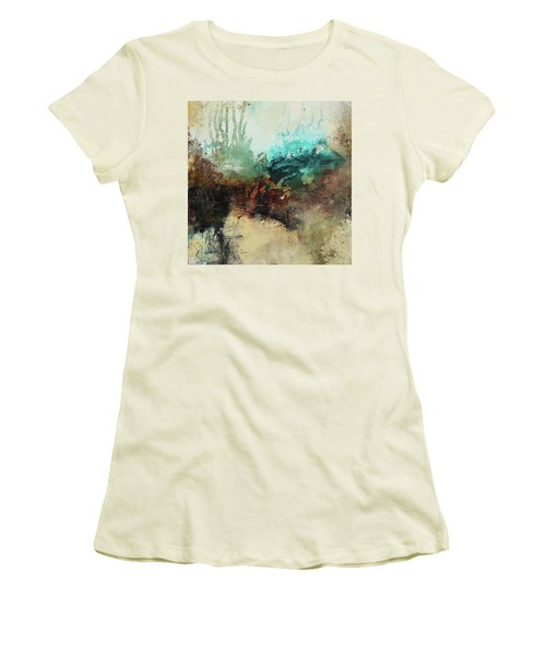 Rich Earth Tones Abstract Not For The Faint Of Heart Women's T-Shirt (Junior Cut) by Patricia Lintner
