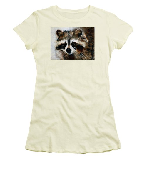 Rickey Raccoon Women's T-Shirt (Athletic Fit)