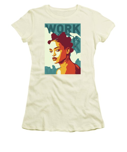Rihanna Women's T-Shirt (Athletic Fit)