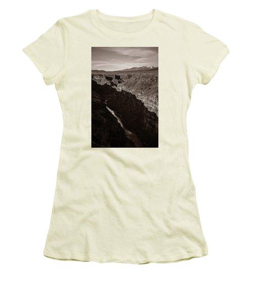 Women's T-Shirt (Junior Cut) featuring the photograph Rio Grande River Taos by Marilyn Hunt
