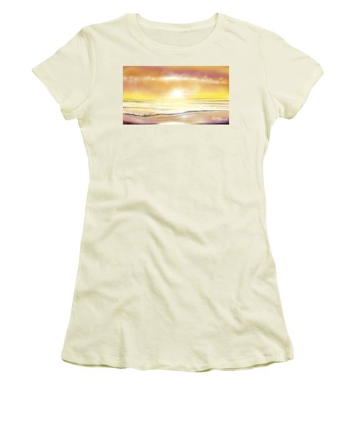 Women's T-Shirt (Junior Cut) featuring the painting Rise And Shine by Dawn Harrell