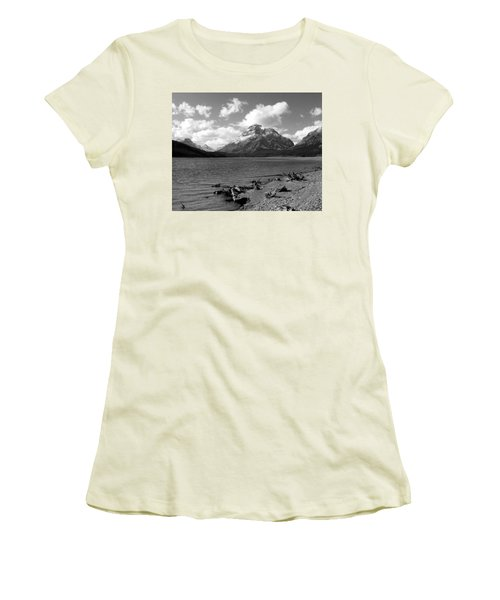 Rising Wolf, Two Med Shoreline Women's T-Shirt (Junior Cut)