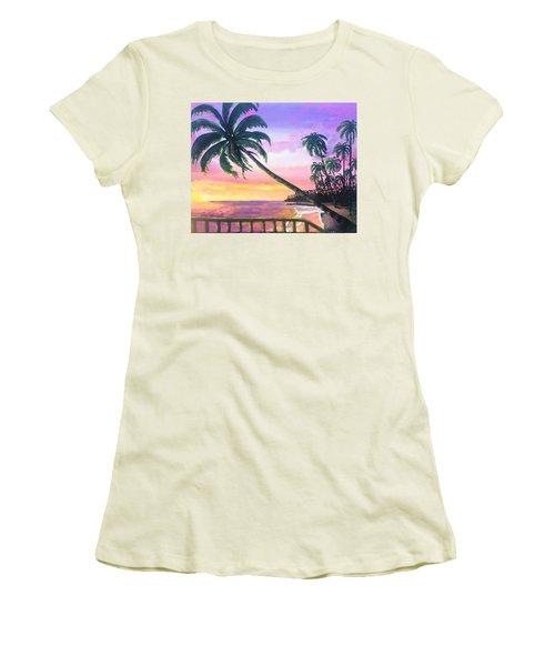 River Road Sunrise Women's T-Shirt (Athletic Fit)
