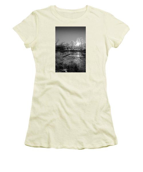 Women's T-Shirt (Junior Cut) featuring the photograph Rivers Edge by Annette Berglund
