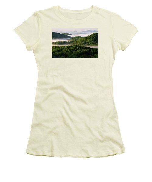 Rivers Of White Women's T-Shirt (Junior Cut) by Deborah Scannell