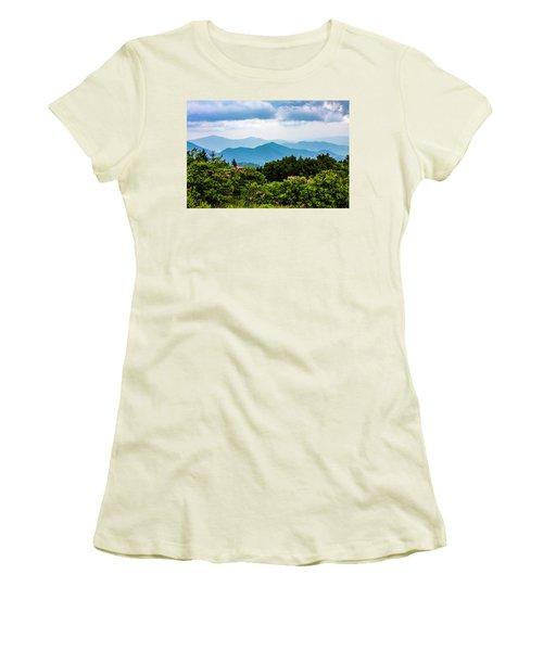 Roan Mountain Rhodos Women's T-Shirt (Junior Cut) by Dale R Carlson