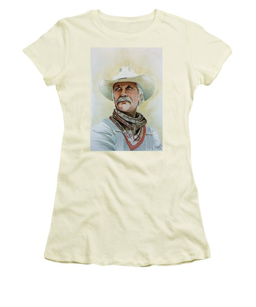 Robert Duvall As Augustus Mccrae In Lonesome Dove Women's T-Shirt (Junior Cut) by Jimmy Smith