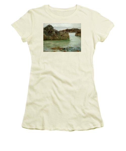 Rocks At Newport Women's T-Shirt (Athletic Fit)
