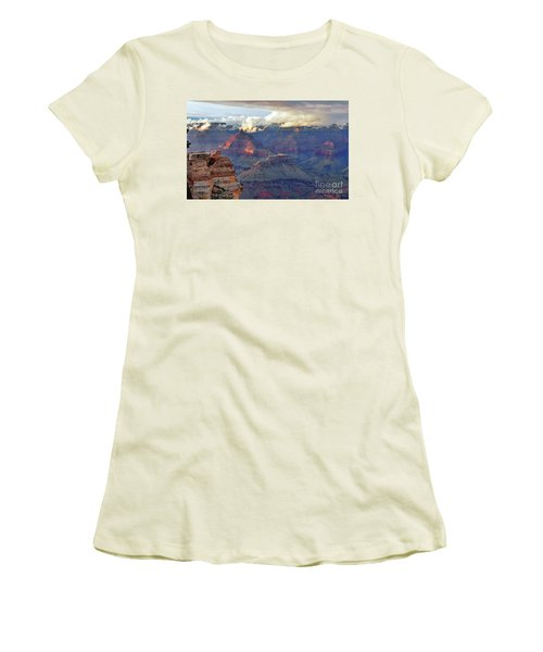Rocks Fall Into Place Women's T-Shirt (Junior Cut) by Debby Pueschel