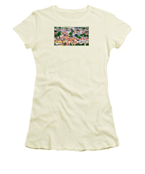 Women's T-Shirt (Junior Cut) featuring the photograph Rooftops by Pravine Chester