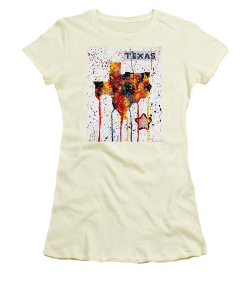Rooted In Texas Women's T-Shirt (Junior Cut) by Tamyra Crossley