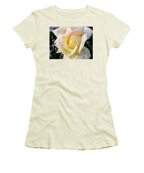 Rose And Raindrops Women's T-Shirt (Athletic Fit)