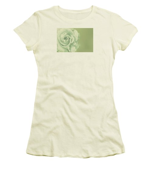 Women's T-Shirt (Junior Cut) featuring the photograph Rose Antique by The Art Of Marilyn Ridoutt-Greene