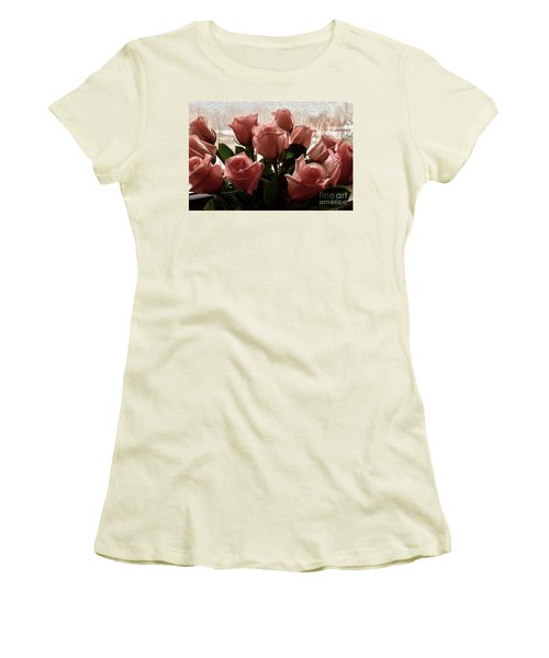 Roses With Love Women's T-Shirt (Athletic Fit)
