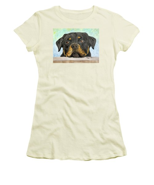 Rottweiler's Sweet Face 2 Women's T-Shirt (Athletic Fit)
