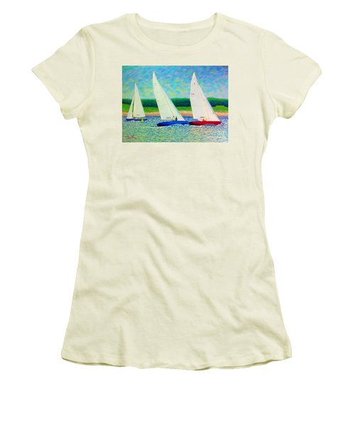 Rounding The Mark  Women's T-Shirt (Athletic Fit)