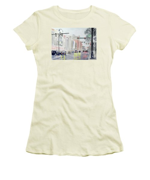 S. Main Street In Ann Arbor Michigan Women's T-Shirt (Athletic Fit)