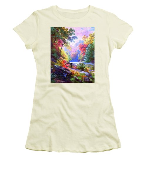 Sacred Landscape Meditation Women's T-Shirt (Athletic Fit)