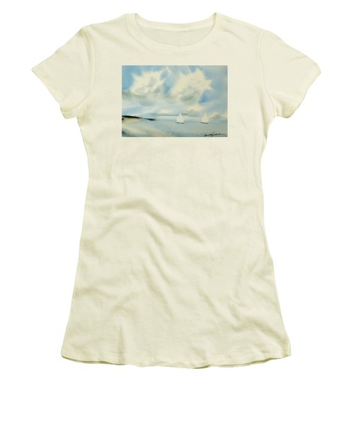 Sailing Into A Calm Anchorage Women's T-Shirt (Athletic Fit)