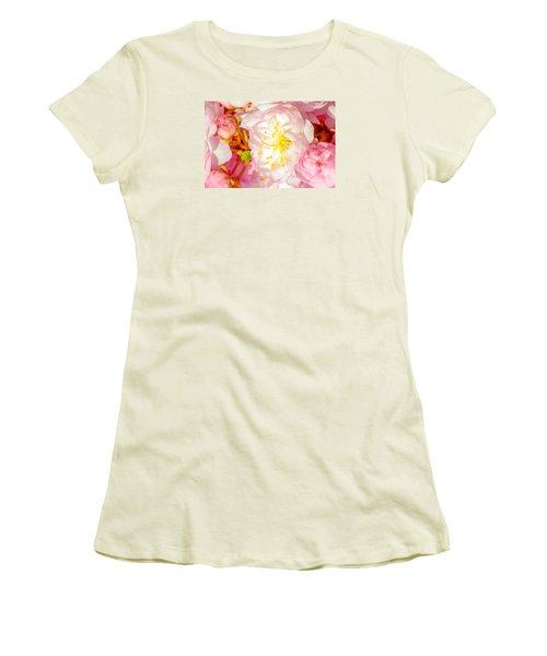 Women's T-Shirt (Junior Cut) featuring the photograph Sakura Cherry Flower - Wedding Of Nature by Alexander Senin