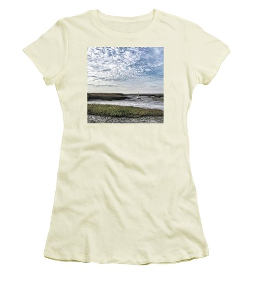 Salt Marsh And Creek, Brancaster Women's T-Shirt (Junior Cut) by John Edwards