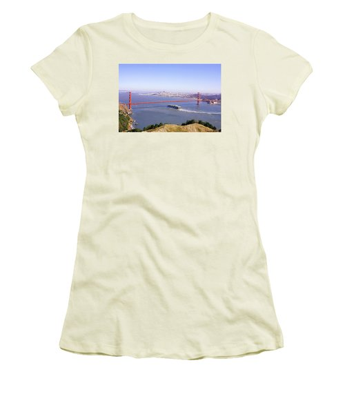 Women's T-Shirt (Junior Cut) featuring the photograph San Francisco - City By The Bay by Art Block Collections