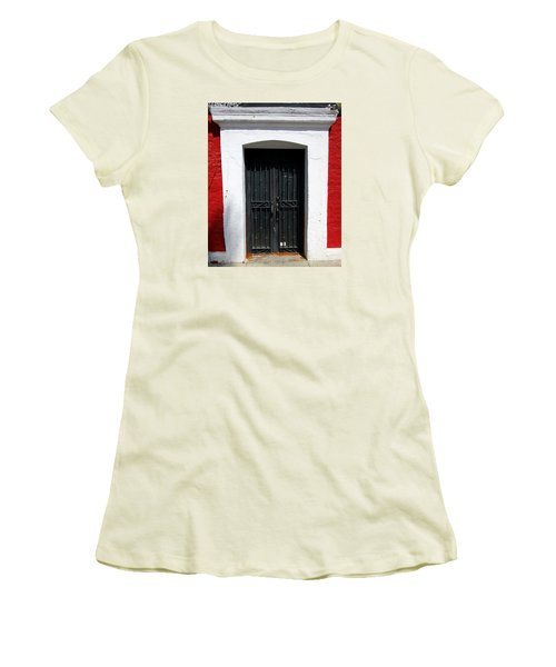 San Jose Del Cabo Door 8 Women's T-Shirt (Junior Cut) by Randall Weidner