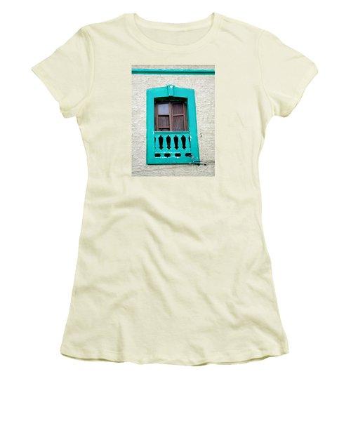 San Jose Del Cabo Window 12 Women's T-Shirt (Junior Cut) by Randall Weidner