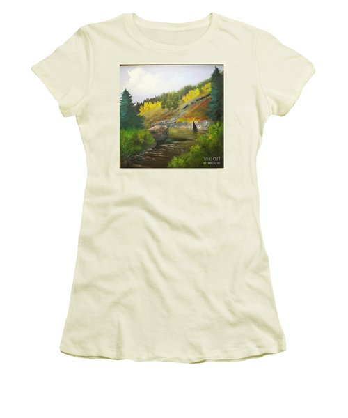 San Juan River Women's T-Shirt (Junior Cut) by Barbara Haviland