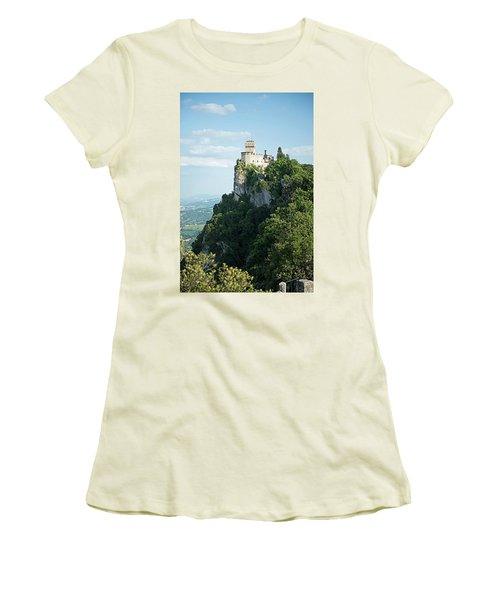 San Marino - Guaita Castle Fortress Women's T-Shirt (Junior Cut) by Joseph Hendrix