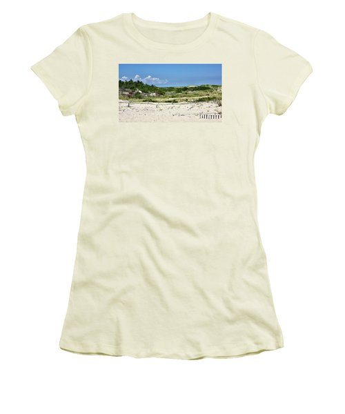 Sand Dune In Cape Henlopen State Park - Delaware Women's T-Shirt (Junior Cut) by Brendan Reals